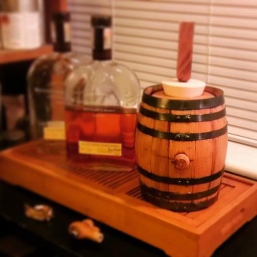 Filled barrel
