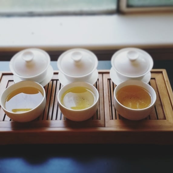 All three oolongs brewed