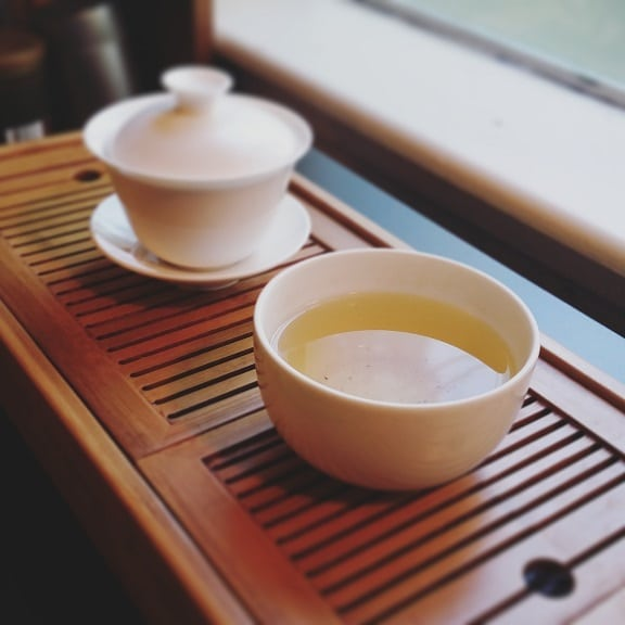 Lan Hua Oolong brewed