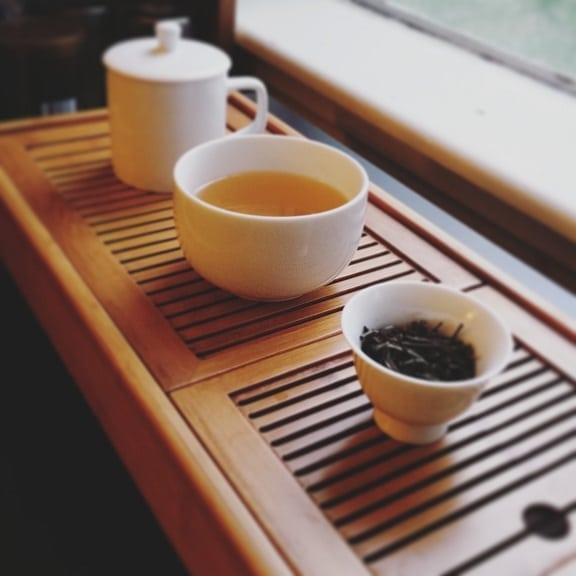 grey dragon tea brewed