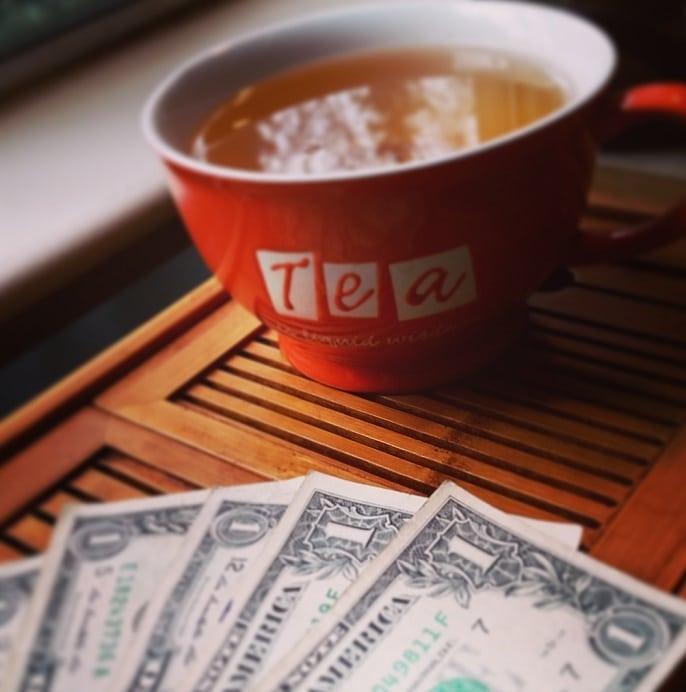 money and tea