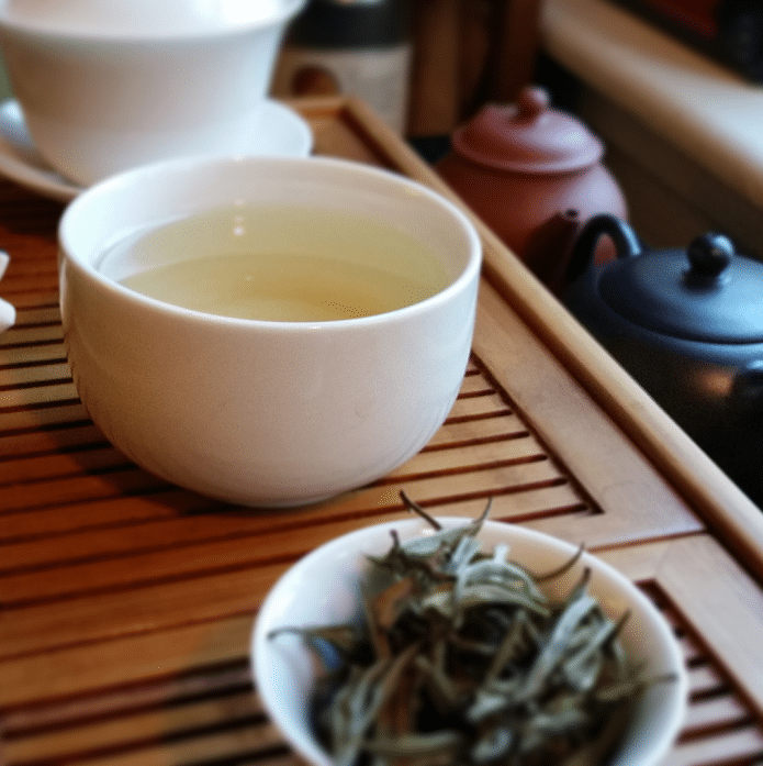 Nepali Jade green tea brewed
