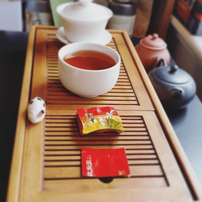Gong Fu Orange Label brewed