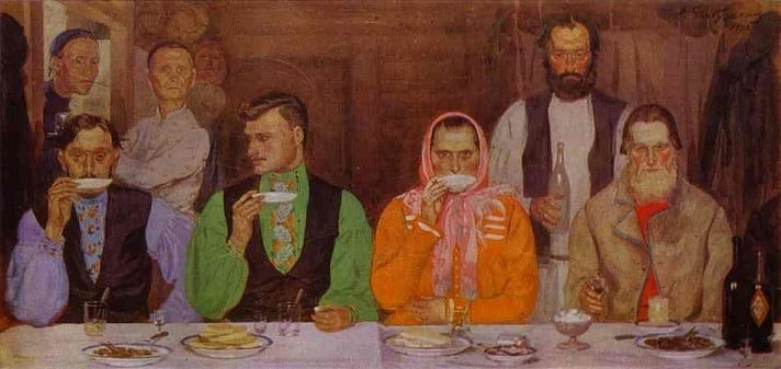 Russian tea painting