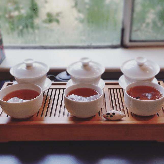 All three Tan Yang Gong Fu brewed