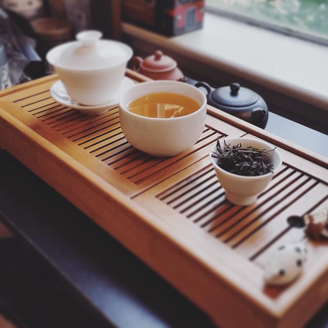 2011 dark tea brewed