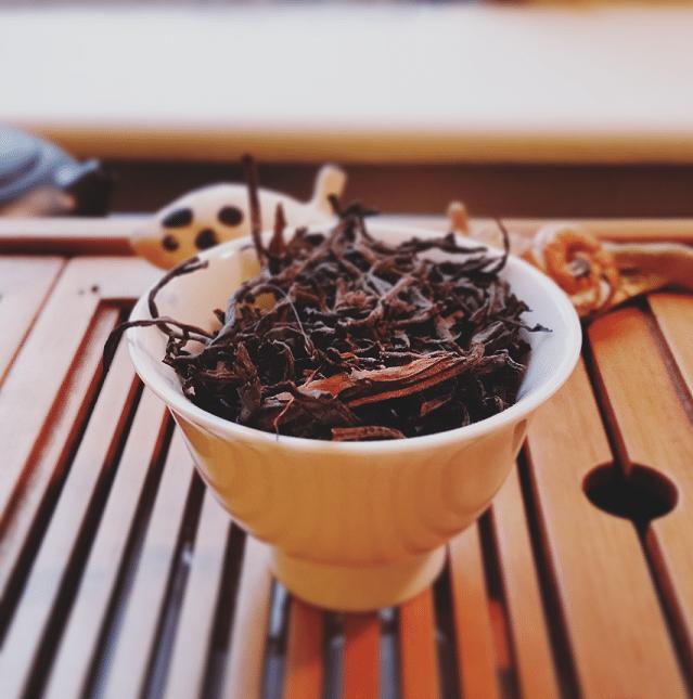 Dry Guatemala black tea leaves