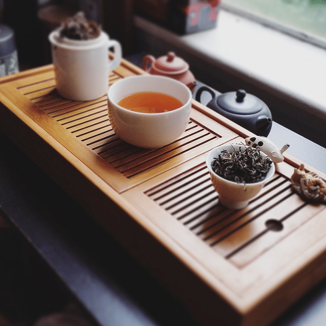 Cloud tea brewed