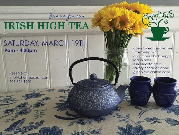Irish High Tea sign