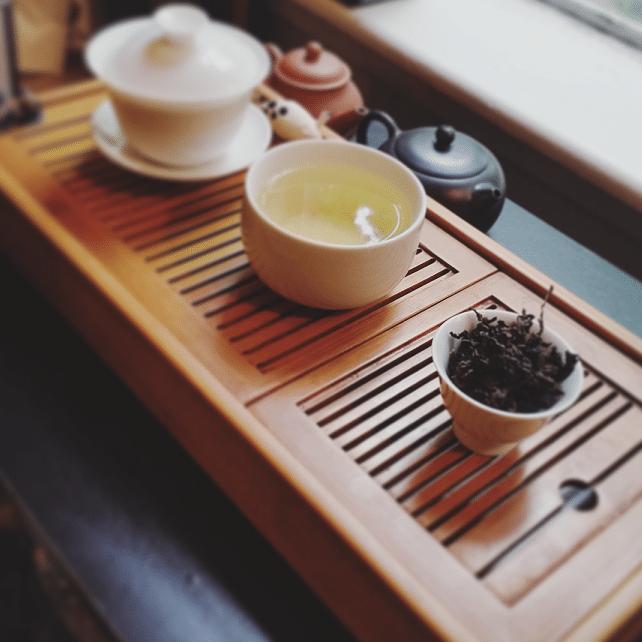 Ali Shan Dark Tea April brewed