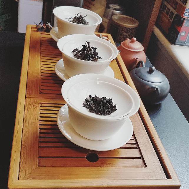 All three Ali Shan dark teas