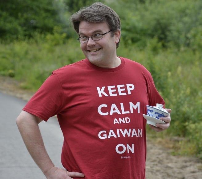 Sassy Keep Calm shirt pose