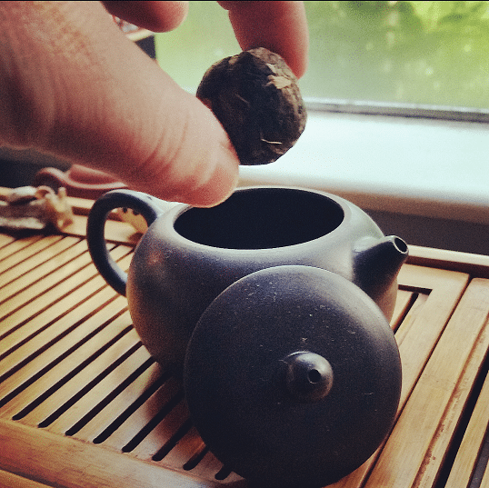 puerh ball and yixing