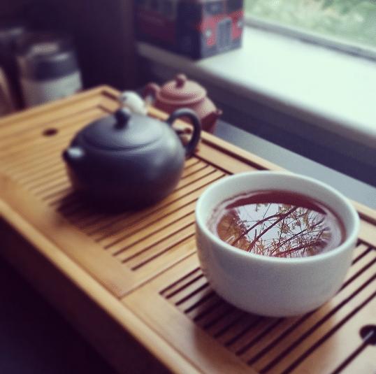 yixing and dark puerh
