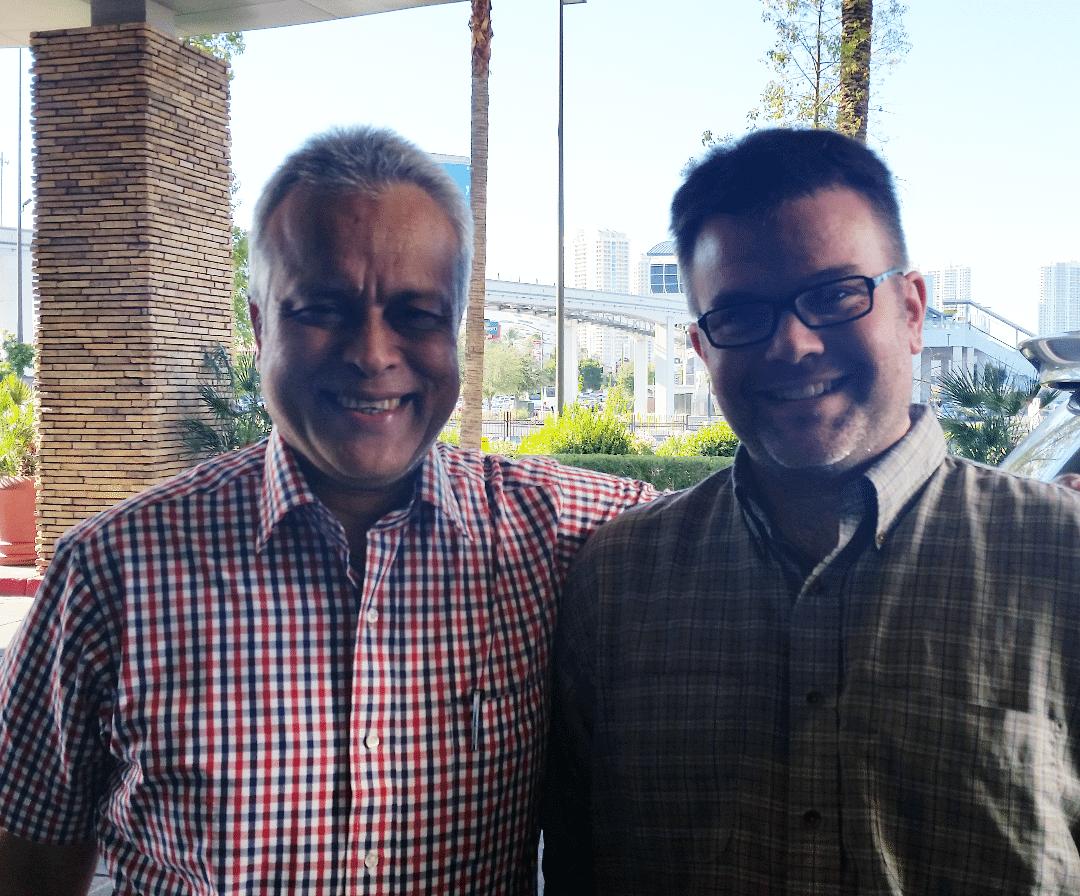Rajen Baruah and me.