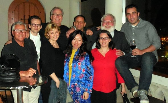 Image owned by Tea Journey Magazine. Front from left: Bob Krul, Susan, Si Chen, Katrina Munichiello. Back row from left: Andrew McNeilL, Austin Hodge, Kevin Gascoyne, Dan Bolton and Tony Gebely.