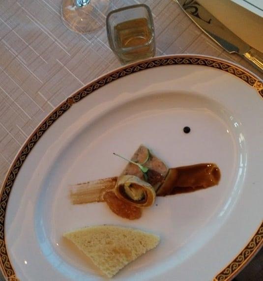 Pairing 3 - Foie Gras Terrine - Bai Long Xu (White Dragon Whisper) Sheng Puer Tea, taken by Nicole S