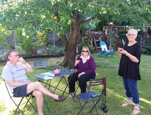Mini tea party at marilyn