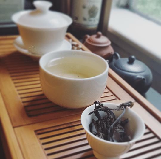 Sichuan Kuding Cha brewed