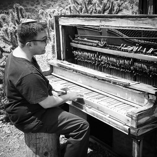me at a piano