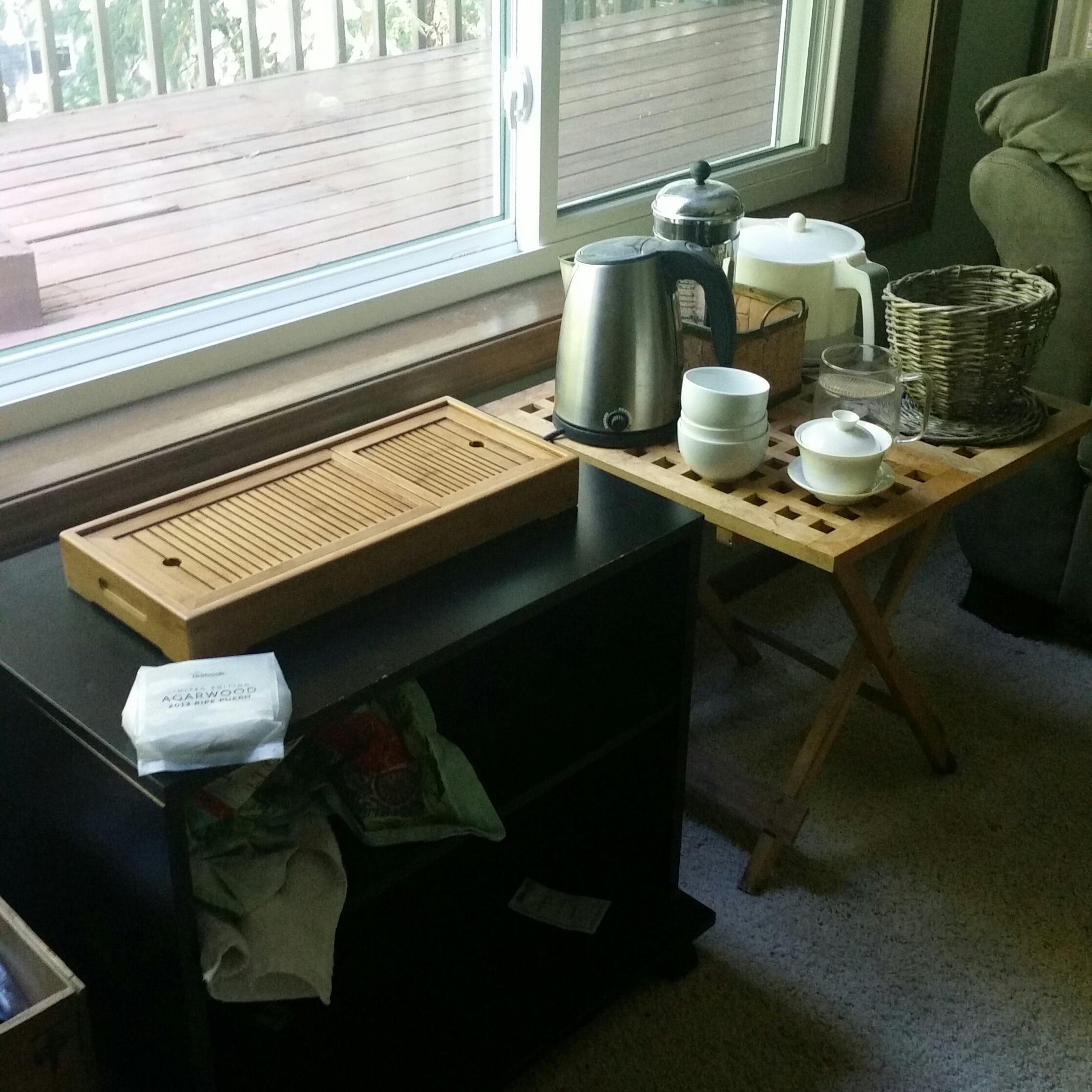 tea desk after