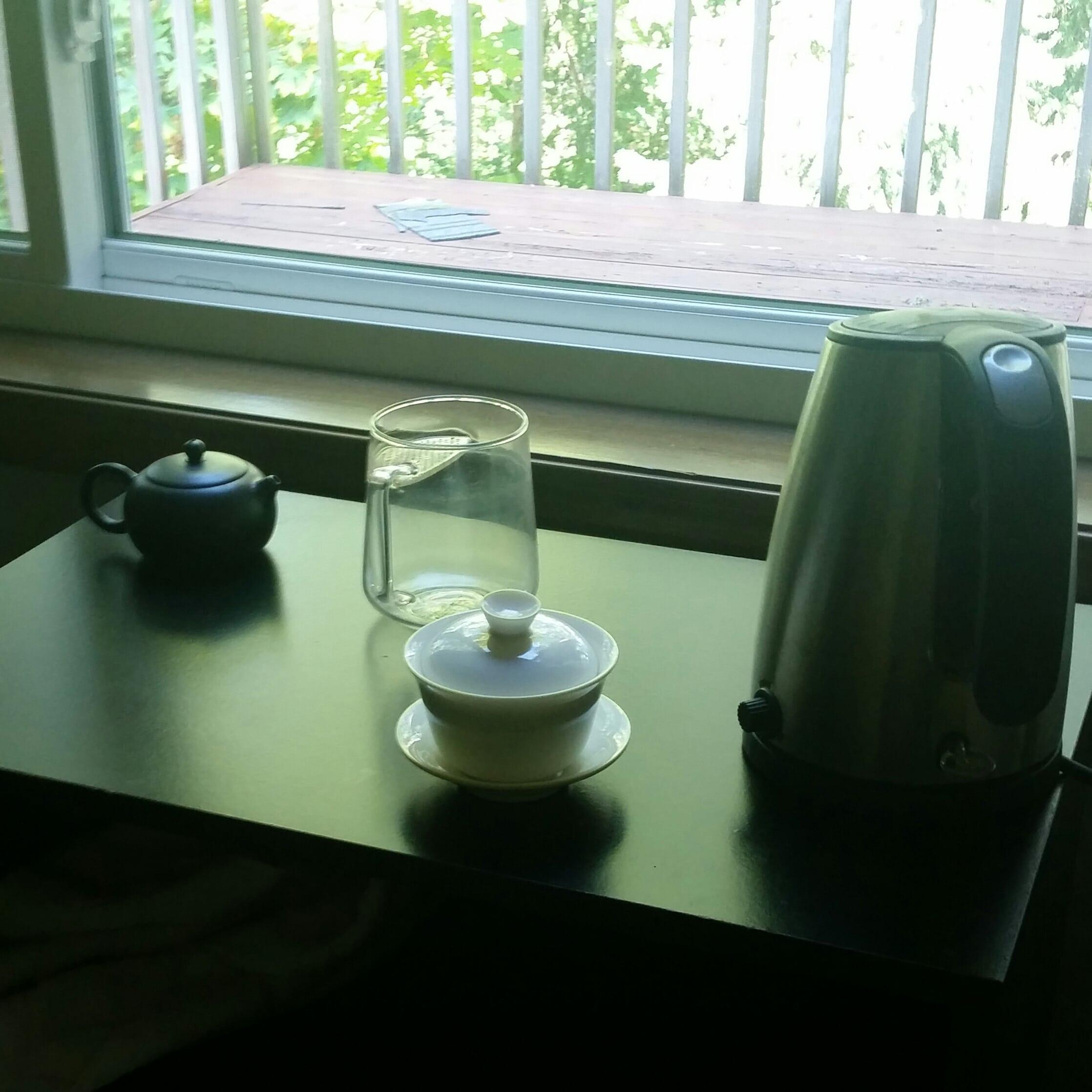 tea desk before