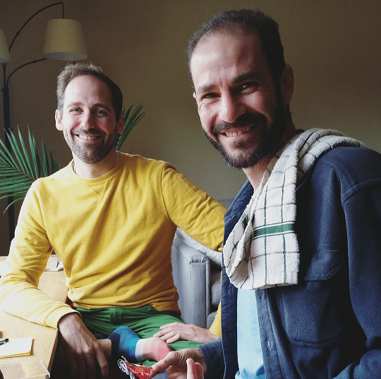 Left to right: Phillip Sauerbeck and Dan Pappas.