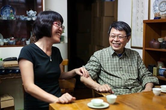 Shiuwen Tai with Master Zhen. Photo by Jake Knapp.